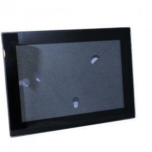 black glass frame front